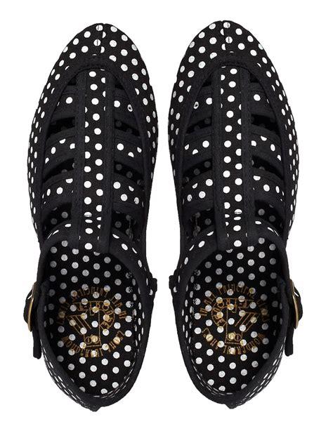 polka dot flat shoes f troupe f troupe takako black polka dot flat shoes at asos
