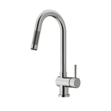 vigo gramercy single handle pull  sprayer kitchen faucet  stainless steel vgst