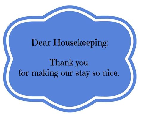 thank you letter after housekeeping pin by linette gerlach kidsfunreview on printables
