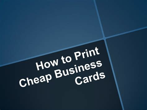 Cheap Gift Card Printing - how to print cheap business cards