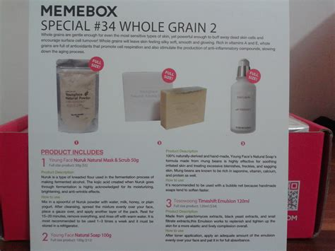 whole grain 2 memebox memebox 34 whole grain 2 review unboxing clumsykitty