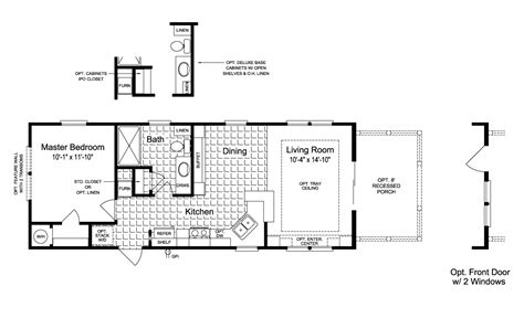 palm harbor mobile homes floor plans view the sunset cottage i floor plan for a 620 sq ft palm