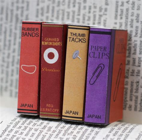 Bookcover Inspire Mini mini office supply bookcovers for matchboxes 187 dollar store crafts