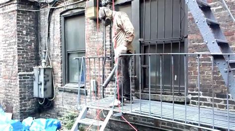 Remove Mildew From Carpet by Fire Escape Painting New York 917 254 0960 Youtube
