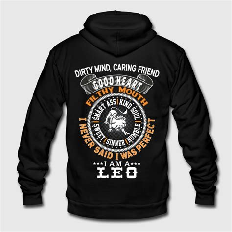 Hoodie Leo Cloth 2 i am a leo zip hoodie spreadshirt