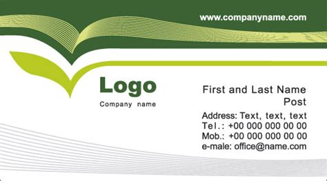 model business card template 6 business cards models