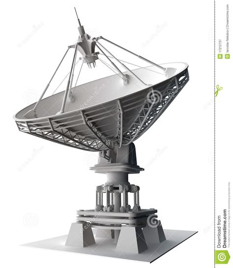 satellite dishes antenna doppler radar stock illustration illustration of moon high 17212737
