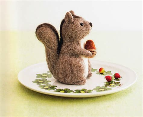 needle felting templates free japanese craft patterns wool felt squirrel free