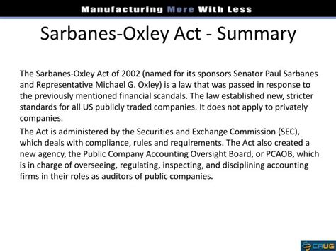 section 404 sarbanes oxley act ppt ifrs sox powerpoint presentation id 1684147