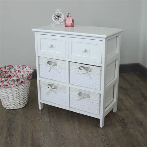 Bathroom Storage Baskets White White Cabinet Storage Basket Unit Drawers Bathroom Bedroom Furniture Ebay