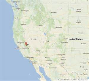 yosemite national park on us west coast map world easy
