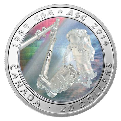 1 oz. Fine Silver Coin   25th Anniversary of the Canadian