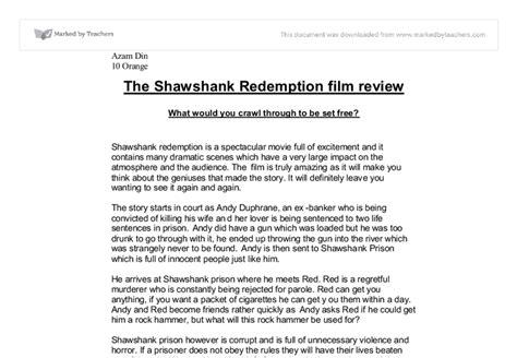 Shawshank Redemption Essay by Shawshank Redemption Essay Topics