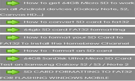 format fat32 sd card android format sd card fat32 amazon fr appstore pour android