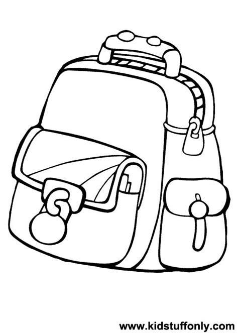 coloring page school bag coloring pages school bag kids coloring page gallery