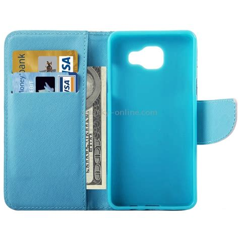 Samsung A8 2016 Flip Wallet Premium Leather Card Slot sunsky for samsung galaxy a5 2016 a510 peacock