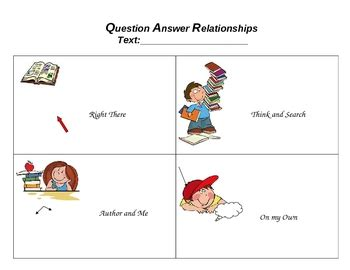 question answer relationships qar template by indepedent