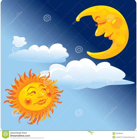 sun and moon royalty free stock image image 22048046