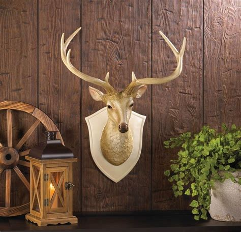 home interior deer picture deer bust wall decor