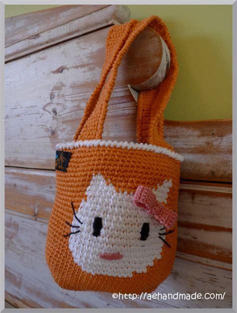 crochet pattern hello kitty bag hello kitty bag crochet crazy pinterest