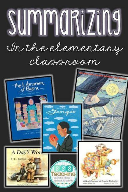 picture books to teach summarizing 17 best images about retelling and summarizing activities