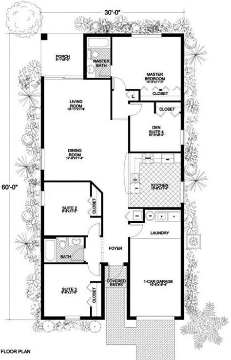 Single Level House Plans by Small 1 Story House Plans