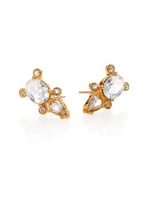 Kate Spade Earing 0oru1624 kate spade land sea mini stud earrings in gold lyst