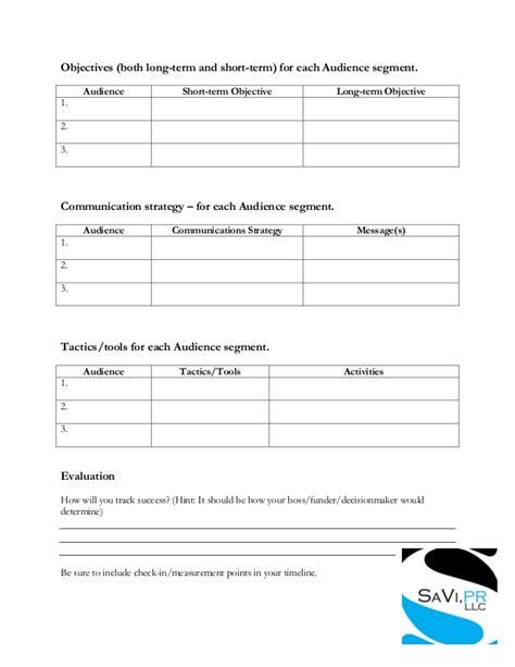 outreach plan template caign outreach plan