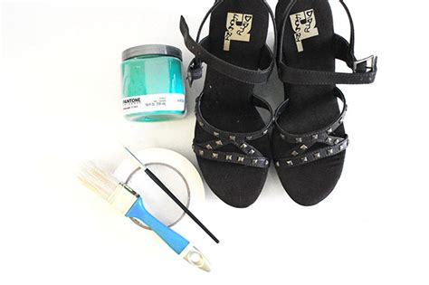 sneaker painting kit diy restyled wedges