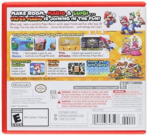 Kaset 3ds Mario Luigi Paper Jam mario luigi paper jam nintendo 3ds import it all