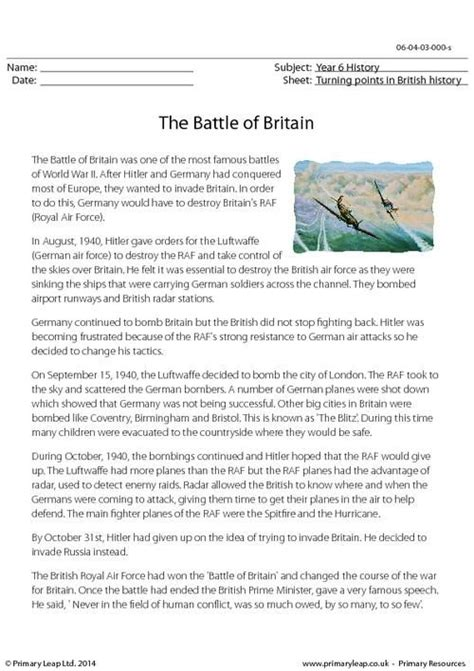 comprehension workbook year 5 1407141813 primaryleap co uk the battle of britain reading comprehension worksheet