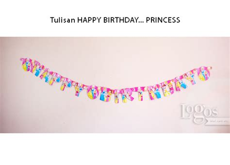 jual tulisan happy birthday princess flag banner ulang