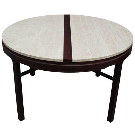 Travertine Dining Table Striking Color Blocked Travertine Dining Table At 1stdibs