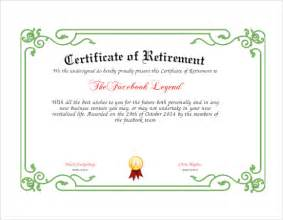 retirement certificate template 6 documents in
