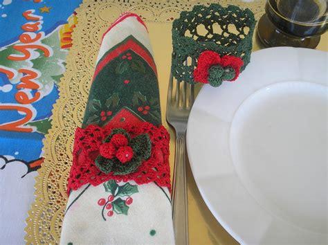 fiori natalizi all uncinetto portatovagliolo natalizio ad uncinetto feste natale