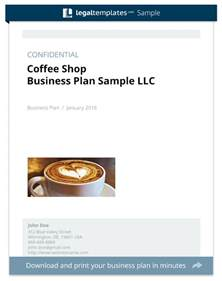 business plan template for store coffee shop business plan sle templates