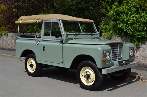 land rover series 3 88 quot 1980 pastel green soft top