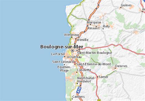 Carte détaillée Boulogne sur Mer plan Boulogne sur Mer ViaMichelin