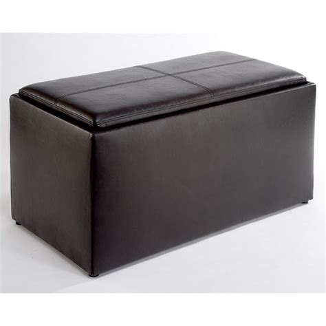 espresso bench with storage storage bench ottoman in espresso 143012