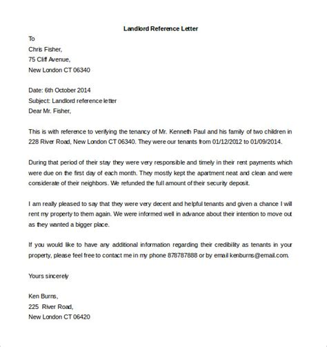 Free Tenant Reference Letter Template Free Reference Letter Templates 24 Free Word Pdf Documents Download Free Premium Templates