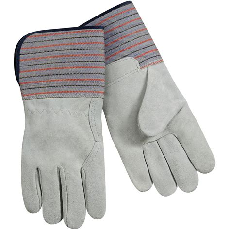 Cowhide Leather Work Gloves - select shoulder split cowhide leather palm work gloves