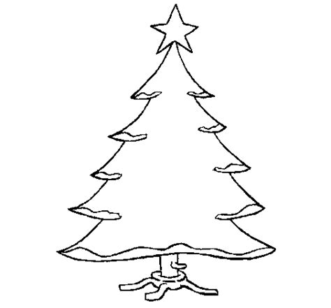 christmas tree with star coloring page