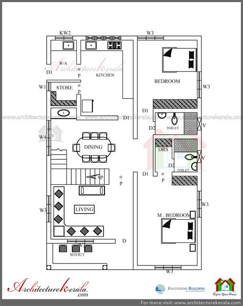 Simple Elevation House Plan In Below 2500 Sq Ft Simple House Plans 2500 Square