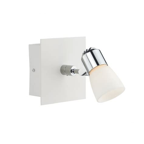 contemporary led wall spot light insulated switched