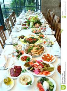Dining Table With Food Table Of Food Royalty Free Stock Photos Image 4091728