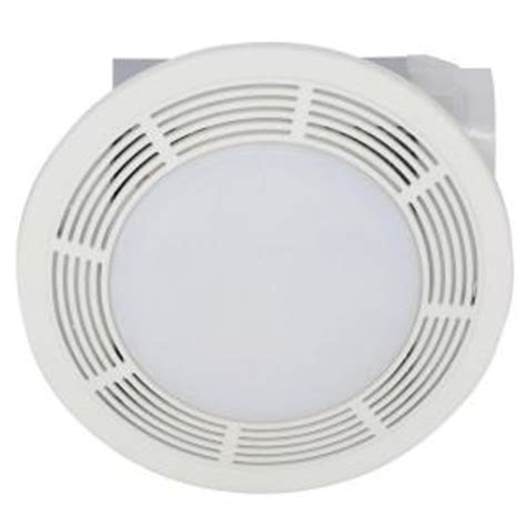 broan bathroom fan home depot broan 100 cfm ceiling exhaust bath fan with light 751