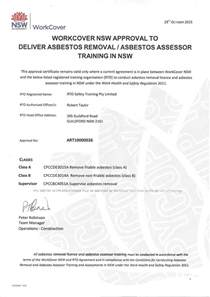asbestos awareness certificate template asbestos removal courses sydney safety