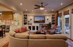 wonderful Black Light Room Decorating Ideas #2: Beige-sectional-decorating-ideas-family-room-traditional-with-built-in-bookshelf-built-in-cabinet-built-in-bookcase.jpg