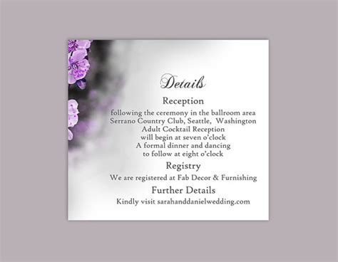 Florist Enclosure Card Template by Diy Wedding Details Card Template Editable Word File