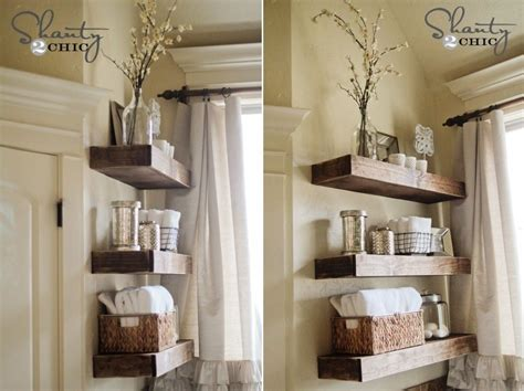 Wood Bathroom Storage Diy Bathroom Shelves To Increase Your Storage Space
